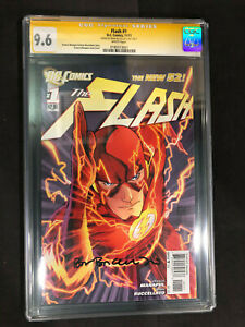 Flash #1 New 52 (2011) CGC SS 9.6 Signed by Brian Buccellato