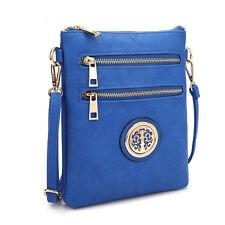 New Dasein Women Leather Crossbody Bag Messenger Bag Handbag Travel Day Purse
