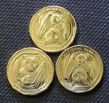 2020 PDS 24K GOLD LAYERED AMERICAN SAMOA NAT'L PARK 3 COIN ATB QUARTER SET