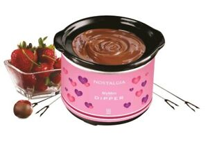 NOSTALGIA MY MINI CHOCOLATE DIPPING POT PINK VALENTINES HEART DESIGN NEW!