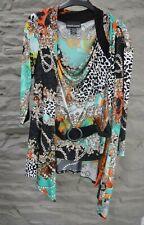 Frank Lyman Size 14 Top & Cardigan in Gorgeous Multi Colour Design