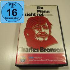 VHS Klassiker EIN MANN SIEHT ROT Death Wish CHARLES BRONSON uncut