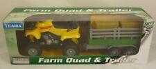 Farm Quad & Trailer - 1:16 Scale - Yellow (BT138)