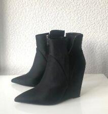 Zara Stiefeletten 36 schwarz Keilabsatz Pumps High Heels