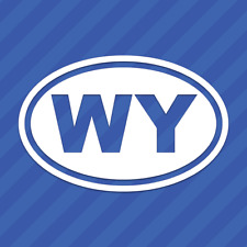 Wyoming WY Oval Vinyl Decal Sticker