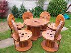 Furniture 6 Seater Wooden Garden.set. Wine Racks All On Order