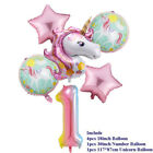 6pcs Set Large Pink Rainbow Unicorn Foil Balloon Birthday Party Decoration Kids