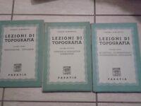 Cesare Aimonetti - LEZIONI DI TOPOGRAFIA. 3 VOLUMI - 1947 - Paravia