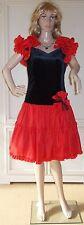 Flamenco Cocktailkleid Partykleid Volantkleid Rot/Schwarz Gr. 40
