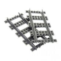 2x Lego Schiene dunkel grau gerade Eisenbahn Zug Gleis 7898 60052 53401