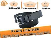 Scaffolding New BLACK Leather Tool Belt Heavy Duty Professional scaffolders 2''