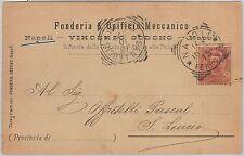 53811  - ITALIA REGNO - Storia Postale: CARTOLINA pubblicitaria da NAPOLI - 1897