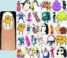 60x ADVENTURE TIME Nail Art Decals + Free Gems Lady Rainicorn Princess Bubblegum