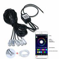 UK RGB LED Interior Strip Light Trim Car Ambient Atmosphere Lighting APP Control