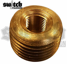 Brass Pipe Fitting 1/2 NPT Male to 1/4 NPT Female Reducer Face Bushing