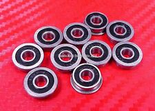 10pcs F606-2RS (6x17x6 mm) Flanged Metal Rubber Sealed Ball Bearing F606RS