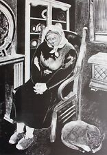 1983 LTD ED PRINT GRANDMOTHER Woodcut AUBREY BEARDSLEY  CAREL WILLINK influenced