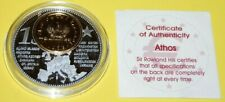 Athos 1 Coin(gilded)+Medal 40mm, 31g, Proof Like + Zertifikat