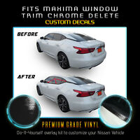 Fit 16-20 Nissan Maxima Window Trim Chrome Delete Blackout Kit - Glossy Black