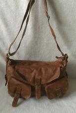 Topshop Large Tan Leather Look Slouch Shoulder Crossbody Bag