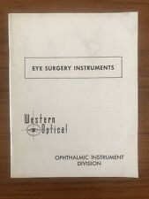 Vintage Booklet EYEBSURGERY INSTRUMENTS Western Optical OPTHALMIC INSTRUMENT DIV
