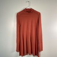 Free People Womens Tunic Top Pink Long Sleeve Turtleneck Oversize Swing Shirt S