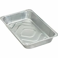 Genuine Joe Disposable Aluminum Pan, Full-Size, 280 oz., Cap, 50/CT, SR 10703