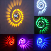 85-265V 3W Spiral LED Wall Sconce Ceiling Light Walkway Bedroom Porch Hotel Lamp