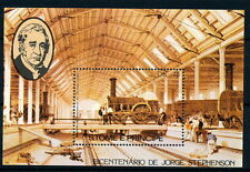 Sao Tome & P. MNH SS, Train, Railways, Bicentenary George Stephenson  (T3)