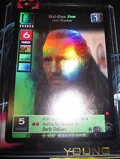 SWCCGYJ CCG YOUNG JEDI REFLECTIONS FOIL MINT ULTRA RARE N° 2 QUI-GON JINN JEDI