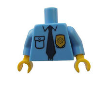 Lego Torso Oberkörper mittel blau Polizist Police gelbe Hände 973pb0801c01 Neu