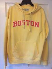NEW BOSTON Yellow Drawstring Hoodie Women's Sweatshirt XL