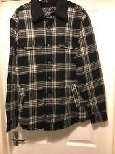 Mens Med Check Jacket Fleece Lined