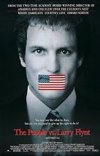 THE PEOPLE VS. LARRY FLYNT (1996) ORIGINAL MOVIE POSTER  - ROLLED - DOUBLE-SIDED