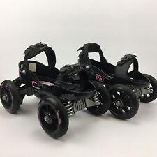 Skorpion Quadline Adjustable Urbanstreet Roller Skates Black/Pink Small, VG Cond