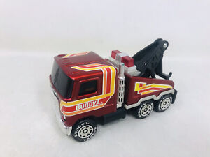 "VTG 5"" 1980 Buddy L Pressed Steel Mack Heavy Wrecker 24 Hour Service Tow Truck"