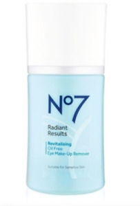 Boots No7 Radiant Results Revitalising Oil Free Eye Makeup Remover 100ml - NEW