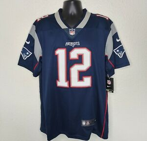 Nike Mens M NFL Jersey Tom Brady New England Patriots #12  Stitched NWT New