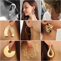 Vintage Women Boho Geometric Round Circle Dangle Drop Ear Stud Earrings Jewelry