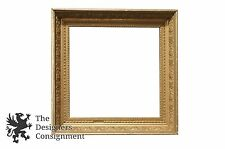 "Antique Low Relief Gilt Picture Frame 20"" Square Art Floral Ornate"