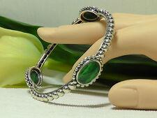 Lagos Maya Sterling Silver Oval Malachite Bangle Bracelet. Size M***NEW***$595**