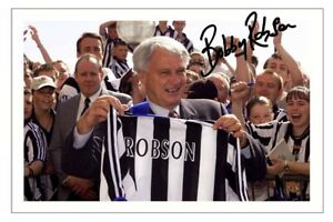 BOBBY ROBSON Signed Autograph PHOTO Signature Gift Print NEWCASTLE UNITED