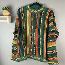 Vintage Chunky Oversized Sweater Size Large Green, Yellow, Orange