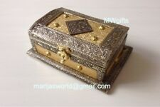 Medium Embossed Indian/ Moroccan Style Jewellery/ Storage Chest