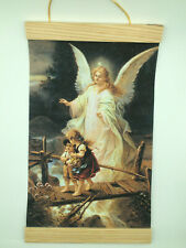 Image of The Guardian Angel, Canvas Wall Print, 8x12, Cream Background