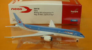 "Herpa 534178 Neos Boeing 787-9 Dreamliner - EI-NEO ""Spirit of Italy"" 1:500"