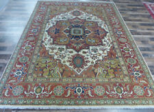 """9'x12'5"""" New Hand knotted Wool Unique Herizz Super Serapi Oriental plush rug"""