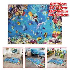 Carpet Rug Ocean Fish Animal Pattern Anti-slip Floor Mats Home Bedroom Deco