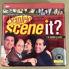 Seinfeld Scene It DVD trivia game in metal tin opened box contents new complete