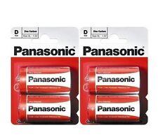4 Piezas Panasonic R20R-2BP D Size batería zinc carbono Tamaño XL - 1.5V - vendedor de Reino Unido